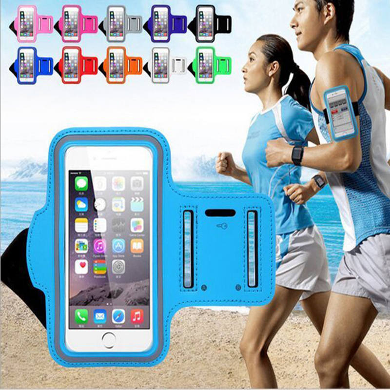 5.5 Inches New Waterproof Sports Running Case Workout Holder Pouch For Iphone 6/7 Plus Cell Phone Arm Bag Band GYM Free Shipping
