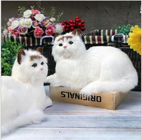 WYZHY  Simulation animal model simulation cat lying fur crafts ornaments children holiday ceremony 31CMx17CMx18CM