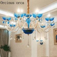 Europäischen Stil Blauen Kerze Kristall Kronleuchter Wohnzimmer  Schlafzimmer Esszimmer Französisch Romantische Luxus Prinzessin .