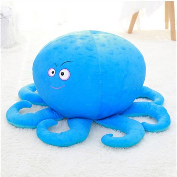 Fancytrader плюшевые морские животные Черепаха Осьминог Globefish игрушечный КИТ пенная частица набитый стул для детей 70 см X 50 см X 40 см - Цвет: green octopus