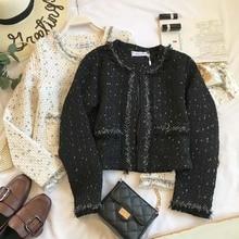 coat Tweed Jacket  high quality Custom Autumn / Winter Women jacket Coat long-sleeved Ladies Woolen Jackets 2019 autumn