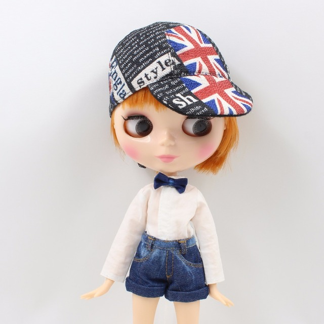 Factory Neo Blythe Doll Orange Short Hair Male Jointed Body 30cm