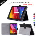 Zenpad S 8.0'' Stand Leather Case For ASUS Zenpad S 8.0 Z580 Z580C Z580CA Magnet Tablet Leather Case +protector