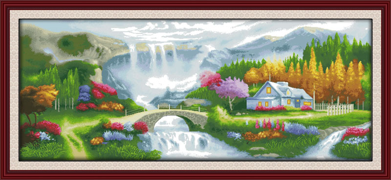 Cross-stitch Home & Garden Efficient Homeland 11ct Pattern On The Canvas Dmc 14ct Cross Stitch Kits,needlework Embroidery For Set,diy Crafts Home Decor Clearance Price