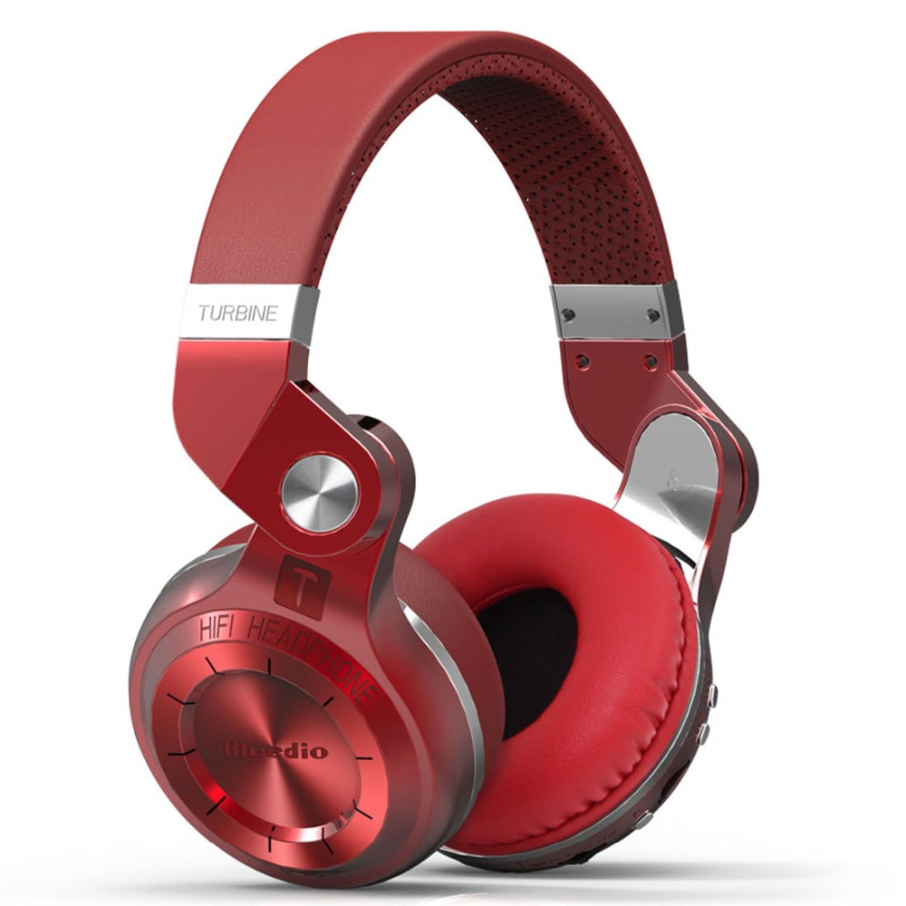 Bluedio T2+ Fashionable Foldable Over The Ear Bluetooth Headphones BT 5.0 Support FM Radio& SD Card Functions Music&phone Calls