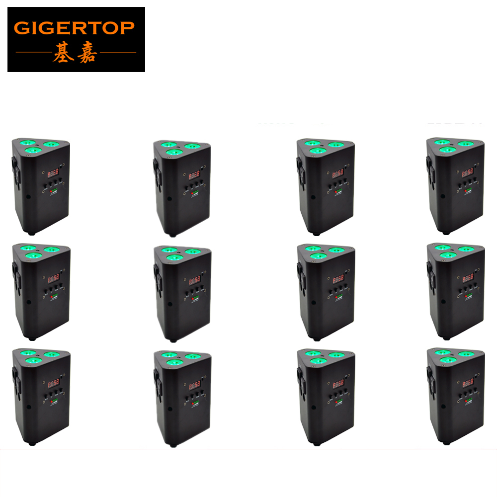 Freeshipping 12 Unit ProLights SMART DJ 3x10W RGBW 4IN1 Wireless LED Uplighter/Rechargeable Battery Powered LED Wedding Uplight freeshipping 20pcs lot wireless dmx battery powered rgbwap led par remote control led wireless battery uplighter 9x18w 6in1