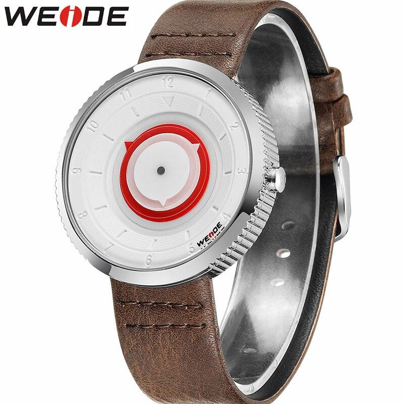 New Watches WEIDE Luxury Brand Men Watch Leather Strap Fashion Quartz-Watch Casual Sports Wristwatch Male Business Clock Relojes все цены