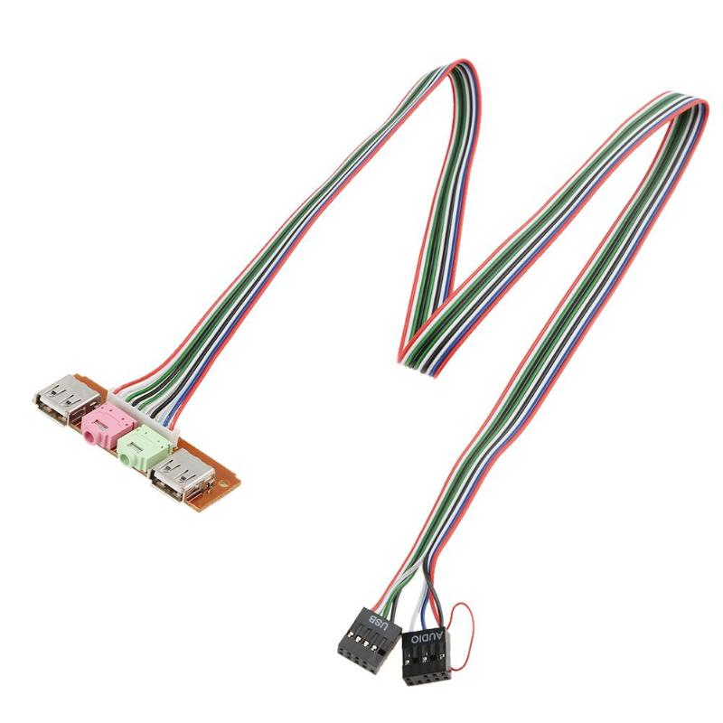 Have An Inquiring Mind Alloyseed I/0 Audio Output Input Dual Usb Front Panel Board Cable Wire For Computer Pc Case Mainbox Back To Search Resultscomputer & Office