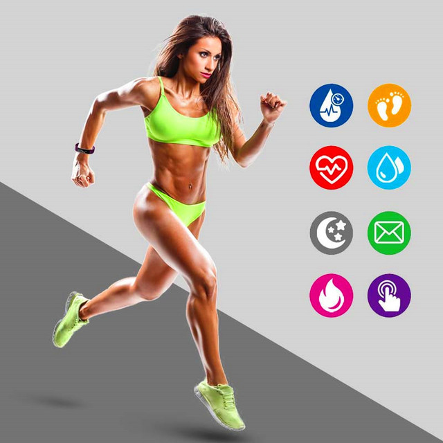 Smart Bluetooth Sports Fitness Pedometer Running Heart Rate Display Test Waterproof Digital LCD Pedometer Bracelet IOS Android