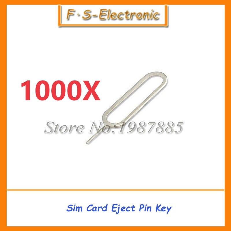 imágenes para 1000 Unids/lote Tarjeta Sim Bandeja Remover Eject Pin Eyector Clave Herramienta abierta para el iphone 4 4S 5 5S 5c 6 6 s plus para ipad para samsung xiaomi