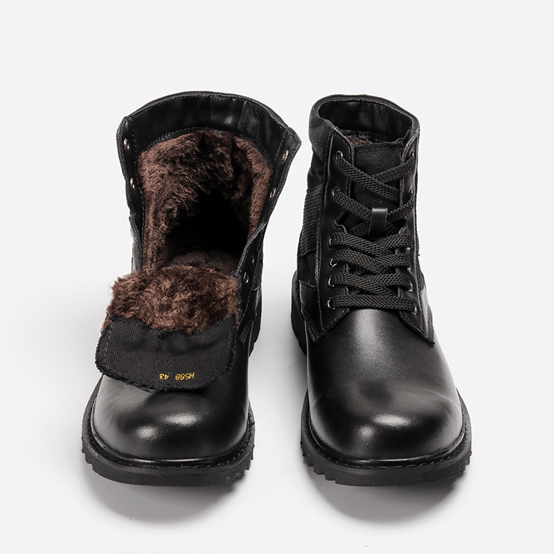 Cow Leather Winter Ankle Boots Size 37~48 Hecrafted Brand 2019 Warm Winter Shoes #FJH588JM