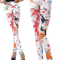 2016 новых женщин поножи хлопок рендеринга Чернила печати женщины legging брюки multicolors сексуальные случайные верхней модной одежды