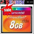 Free Shipping+10pcs/LOT high quality SLC Transcend cf card 133X high speed Compact Flash 2GB 4GB 8GB 16GB 32GB