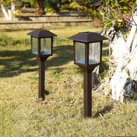 Hight Quanlity 2 stks/partij zonnepaneel LED Rvs Spot Light Landschap Tuin Gazon Solar Lampen Outdoor Aarding Zon Licht
