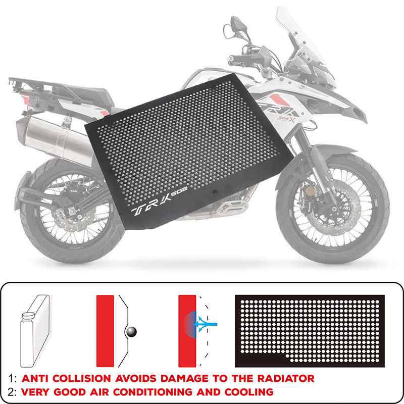 Hot sell Motorcycle <font><b>accessories</b></font> Engine Radiator Bezel Grille Protector Grill Guard Cover For <font><b>Benelli</b></font> TRK502 <font><b>TRK</b></font> <font><b>502</b></font> 2017-2018 image