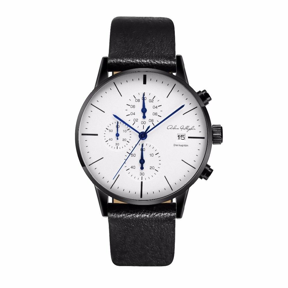 Cronografo Mens Watches Top Luxury Brand Cinturino In Pelle Sport Quarzo Orologi Da Polso Multi-function Da Polso Adam Gallagher