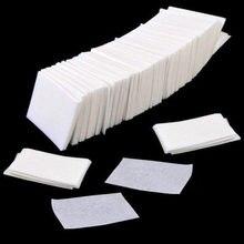 400/800 sztuk Lint chusteczki polski paznokci żel akrylowy Remover ręcznik papier płatki kosmetyczne rolki Salon Nail Art Cleaner narzędzia Remover klocki
