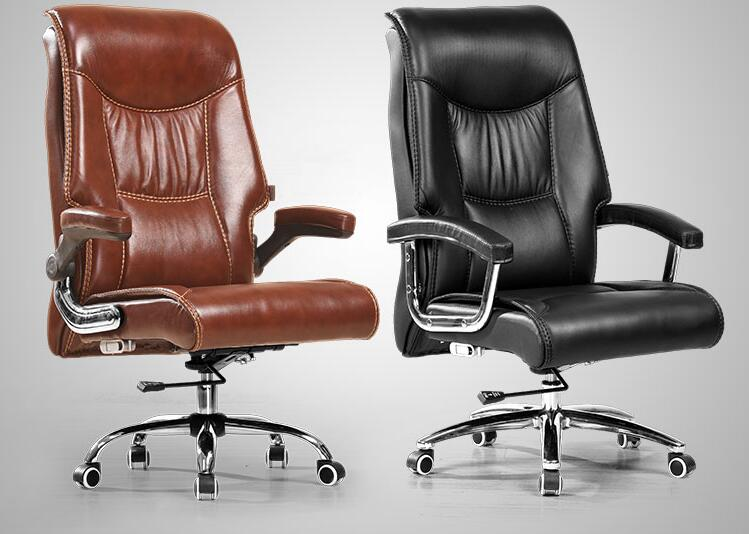 Real leather computer chair. Home can be used to massage the boss chair. Swivel chair .026 the boss chair is real leather the home can be massaged leather big class chair seat computer chair