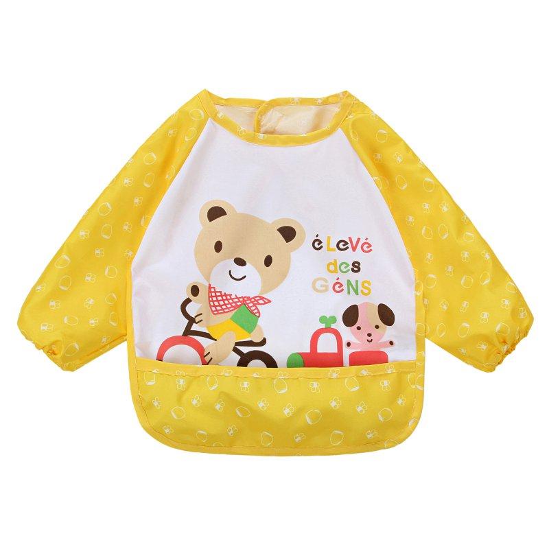 Children Bib Cartoon Printed Long Sleeve Baby Bib Infant Waterproof Apron Clothing 8 Patterns 2018 new