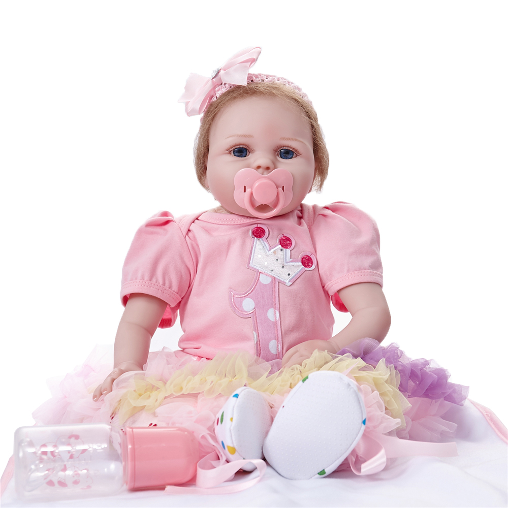 Reborn 55cm Soft Dolls Newborn Babe Vinyl Girl Princess Gifts Toys Doll Action Figure Toys Baby Kids Accompany Playmates DollReborn 55cm Soft Dolls Newborn Babe Vinyl Girl Princess Gifts Toys Doll Action Figure Toys Baby Kids Accompany Playmates Doll
