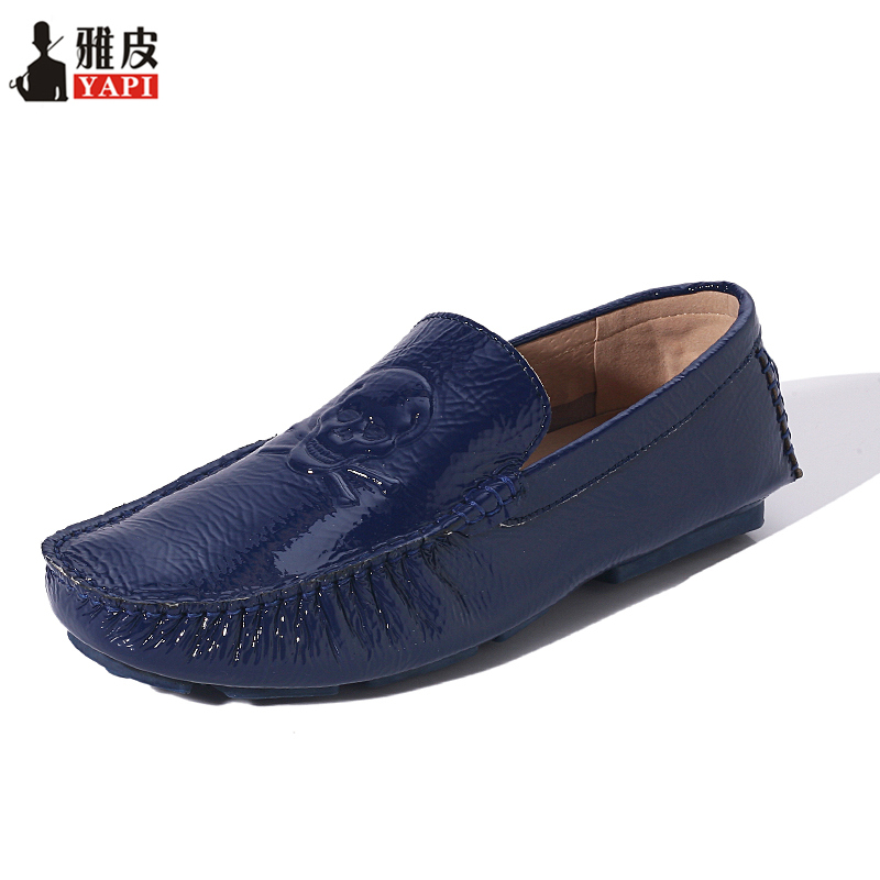 Hight Quailty Mens Patent Leather SLIP-ON Loafers Casual Driving Car Shoes Penny Loafers Men Moccasins Boat Shoes men s crocodile emboss leather penny loafers slip on boat shoes breathable driving shoes business casual velet loafers shoes men
