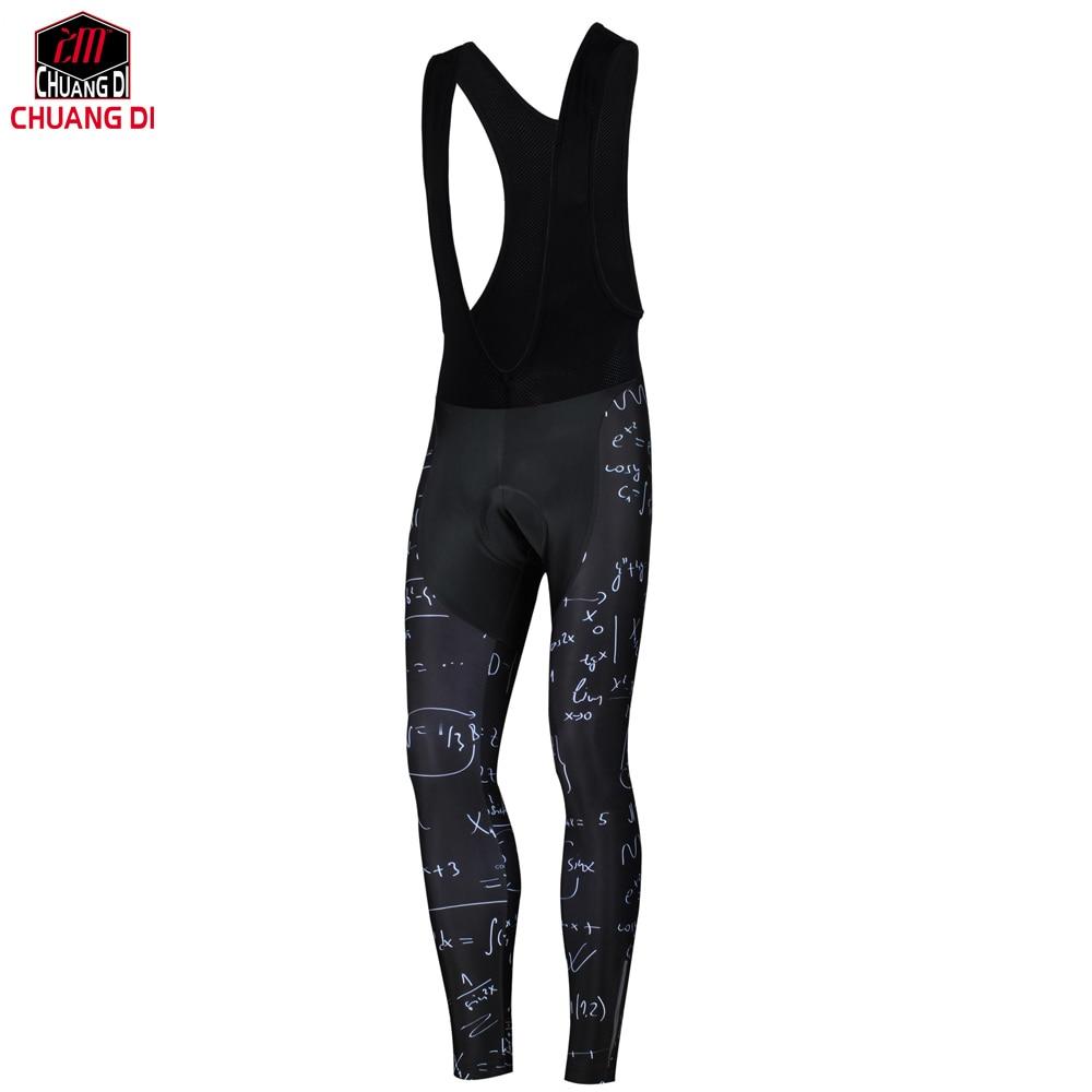 ZM Chuangdi Men Bike 3D Gel Padded Pants Long Cycling Bike Tights Team Sports Racing Clothing Pants With Green Gel Pad