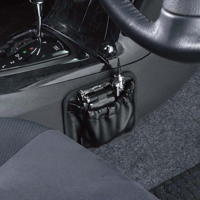 Leather Car Seat Side Storage Bag Organiser Phone Pen Key Cigarette Auto Seats Gaps Organizer Door Stick Paste Pockets Holder