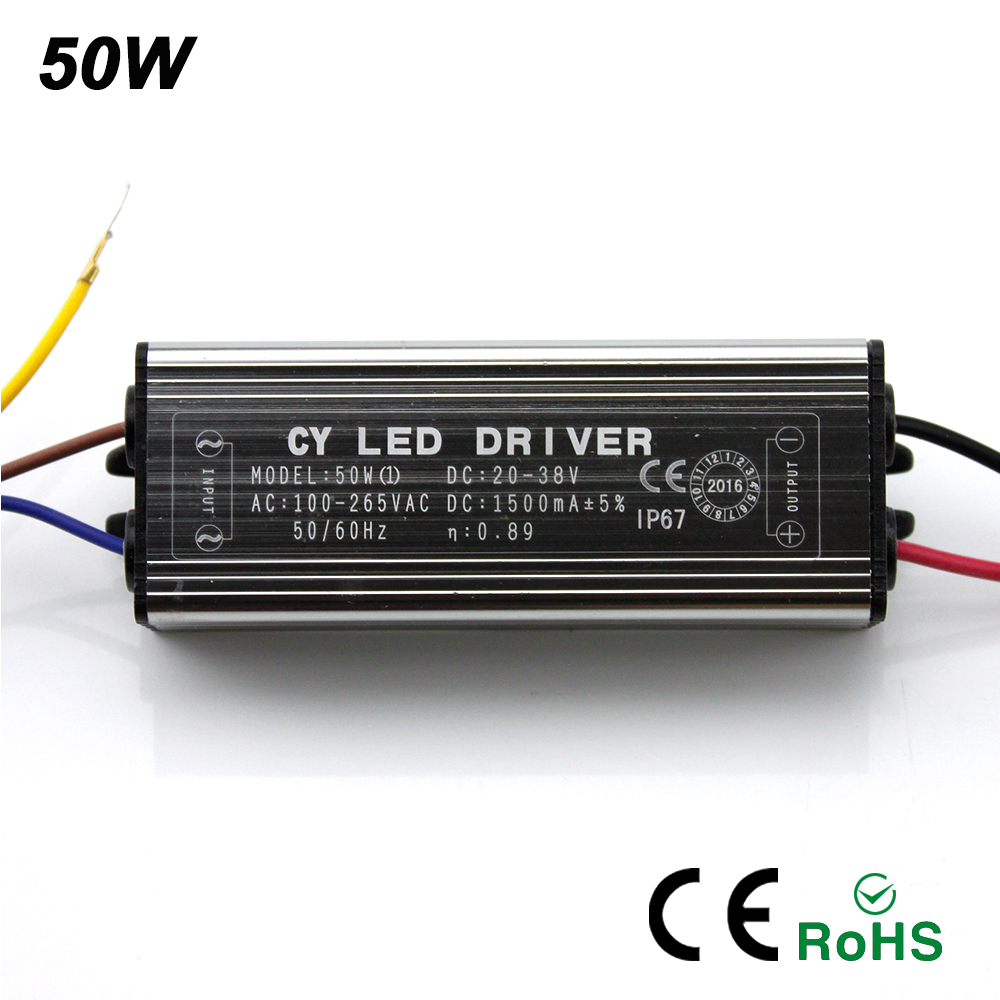 Image 2 - 2017NEW LED Drive 10W 20W 30W 50W LED Driver Adapter Transformer AC100V 265V to DC20 38V Switch Power Supply IP67 For Floodlight-in Lighting Transformers from Lights & Lighting