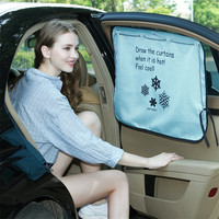 2PCS Car Side Window Curtain Sunshade For VW Polo Beetle Golf 4 5 7 6 Passat