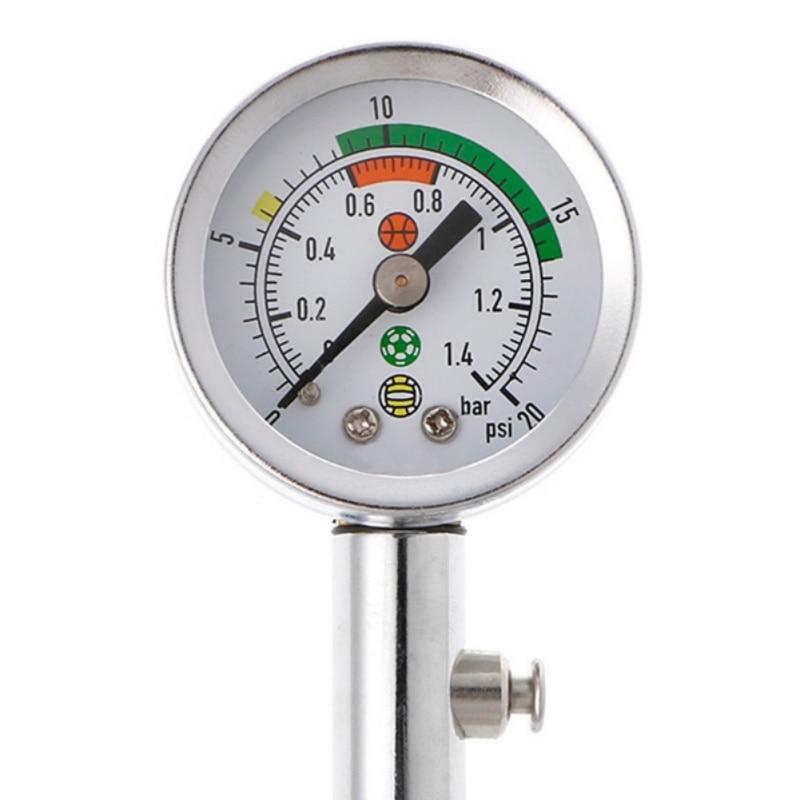 2019 New Ball Pressure Gauge Ball Barometer Pointer Football Basketball Volleyball Press