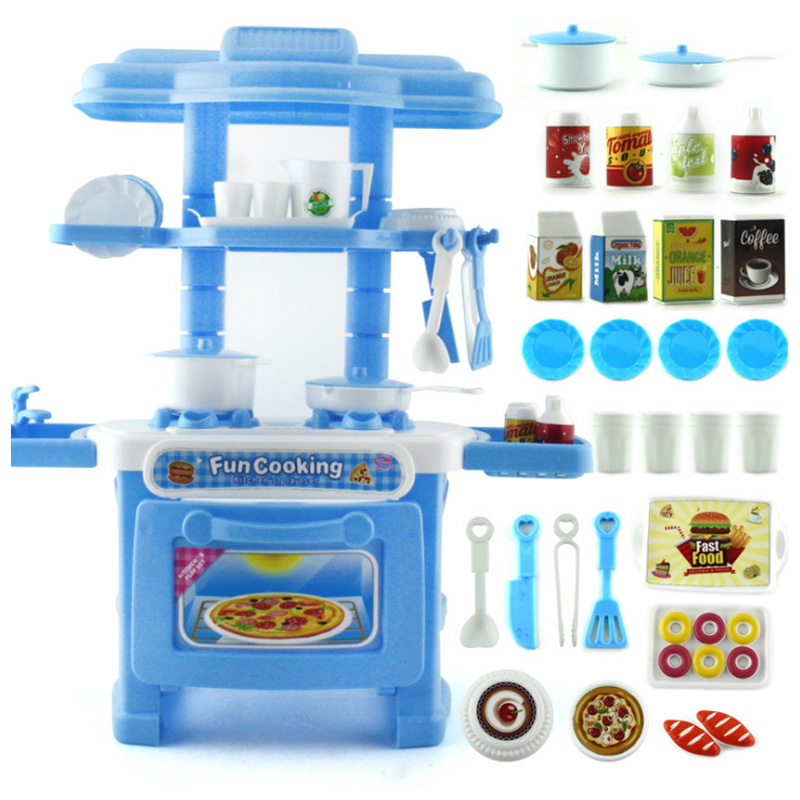 2019 New 6 Types 1 Pcs Kids Play House Toys Girl Tableware Sets Baby Toys Kitchen Cooking Simulation Model Kitchen Pretend Play