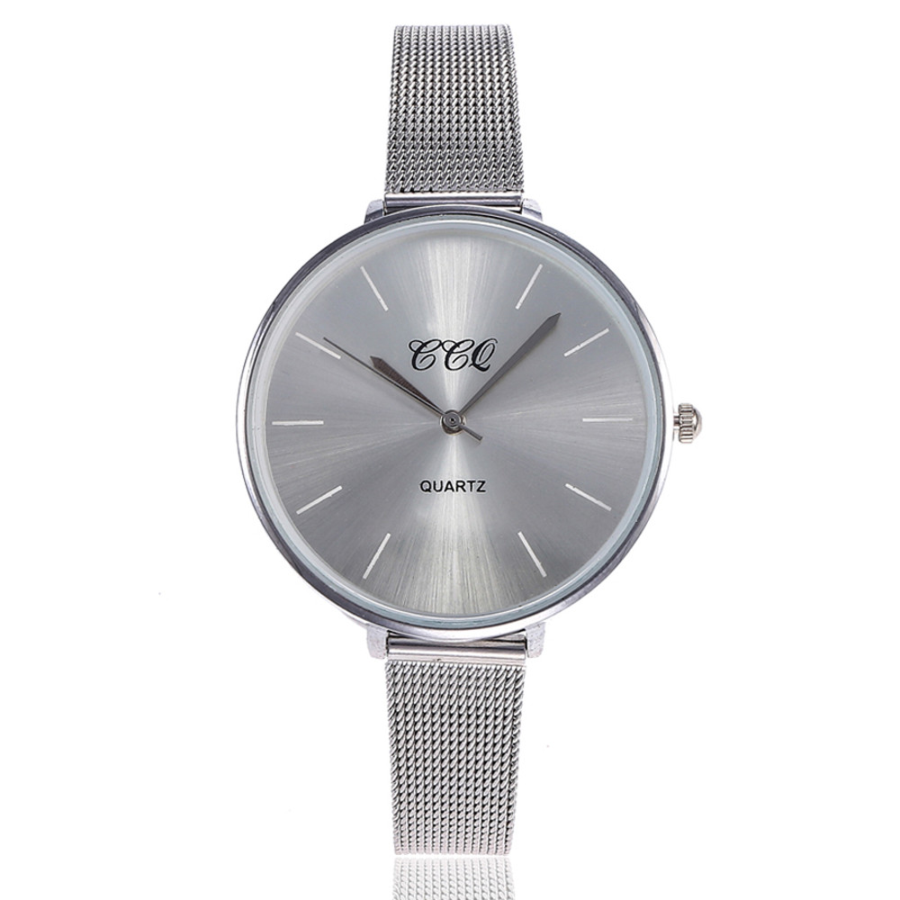 CCQ Fashion Quartz Stainless Steel Band Marble Strap Watch Analog Wrist Watch Clocks moment female hour Clock