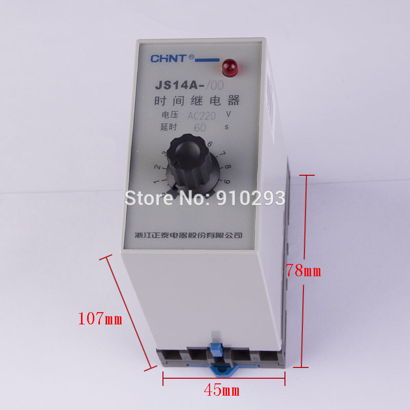 JS14A time delay relay wiring diagram 60s power general purpose time delay relay function AC220V relay module electrical Relays
