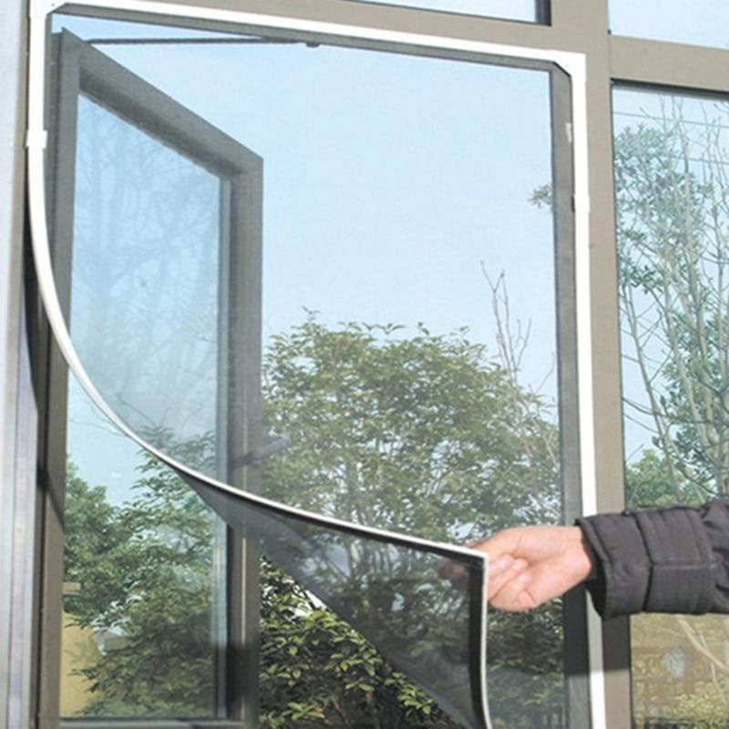Fashion Netting Mesh Window Screen Protector Black DIY Insect Fly Door Window Net