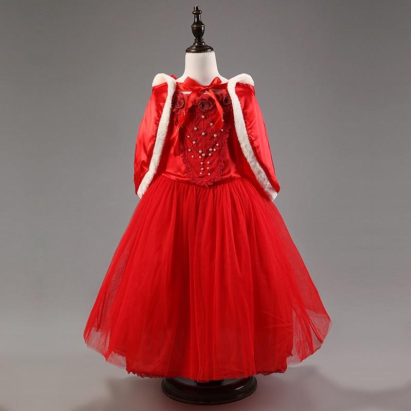 Winter Kids Party Wear Dress Brand Girl Clothes Princess Dress Halloween Dress Up Costume For ...