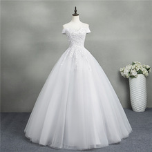 Ball-Gown Wedding-Dresses Elegant White Off-Shoulder Lace Sweetheart Brides Plus-Size