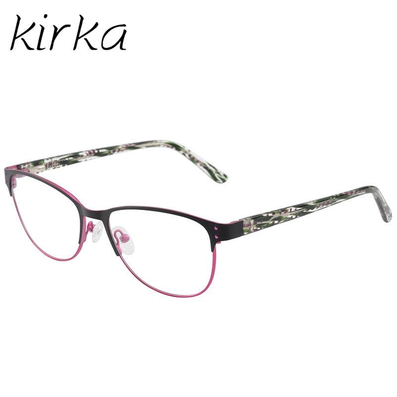 Kirka Metal gafas marcos mujer clásico óptico gafas grandes marco ...