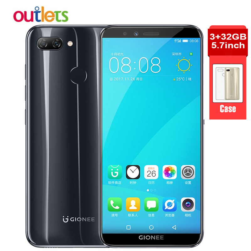 """Gionee F6 Mobile Phone Android 7.1 4G LTE Snapdragon Octa Core 3GB 32GB Global Network 5.7"""" 2970mAh 18:9 13MP+2MP Smartphone-in Cellphones from Cellphones & Telecommunications    1"""