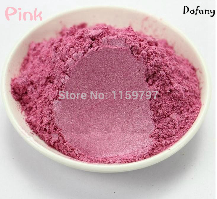 Pink color Natural Mineral Mica Powder DIY For Soap Dye Soap Colorant makeup Eyeshadow Powder Car paint pigment 8 color soap powder 50g pack healthy natural mineral mica powder diy for soap dye soap colorant makeup eyeshadow skin care