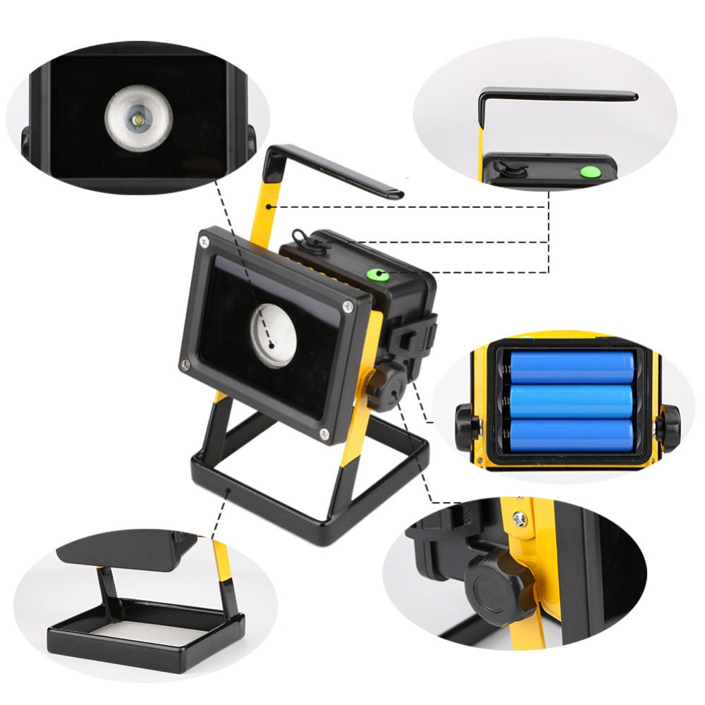 3 Modes 2400 LM working Light 24 LED 30W Outdoor LED Flood Light Portable Work Light Lamp LED Rechargeable Camping Light