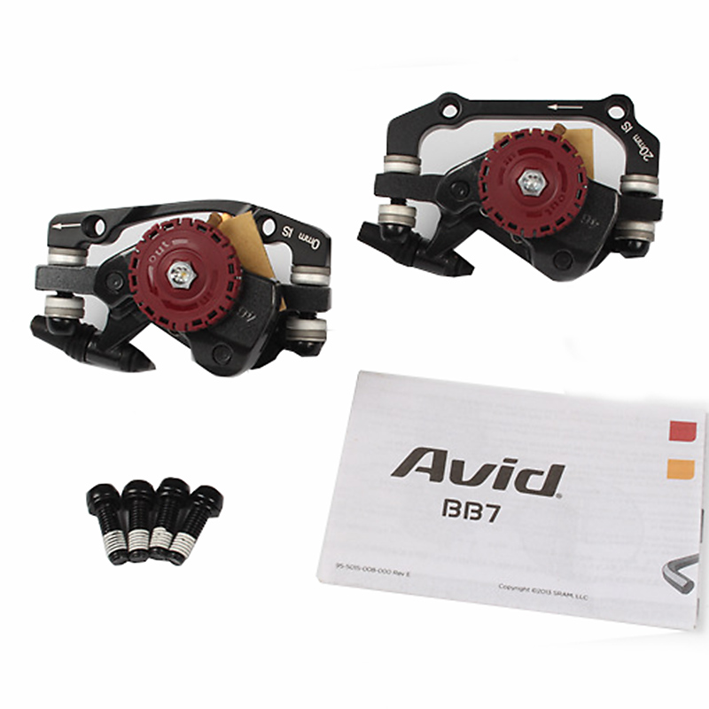AVID BB7 MTB Mountain Bike Mechanical Disc Brakes Calipers Bicycle Parts 1 Pair/2pcs Free Shipping tomount 2pcs bicycle fender bike parts