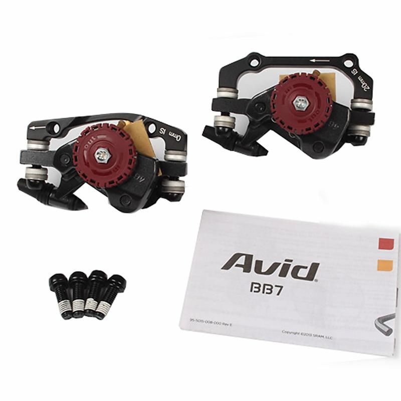 цена на AVID BB7 MTB Mountain Bike Mechanical Disc Brakes Calipers Bicycle Parts 1 Pair/2pcs
