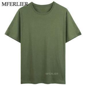 Футболка MFERLIER мужская с коротким рукавом, обхват груди 155 см, вес 165 кг, 6 цветов, большие размеры 5XL 6XL 7XL, на лето