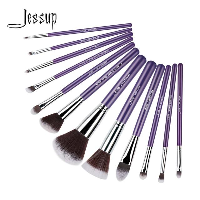 Jessup pincéis 12 pcs Pro Makeup Cosméticos Set Fundação Eyeshadow Escova de Madeira Ferramentas Blush T087