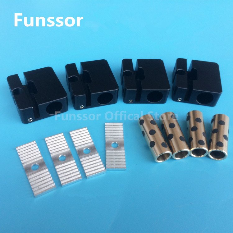 Funssor 2 Ultimaker alumínio barra transversal com synchronous belt buckle Para DIY impressora UM2 3D