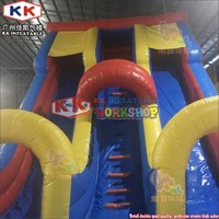Super Large Clown Inflatable slide with 3 tunnels, CE certification Adults Clown Hand Inflatable dry slide