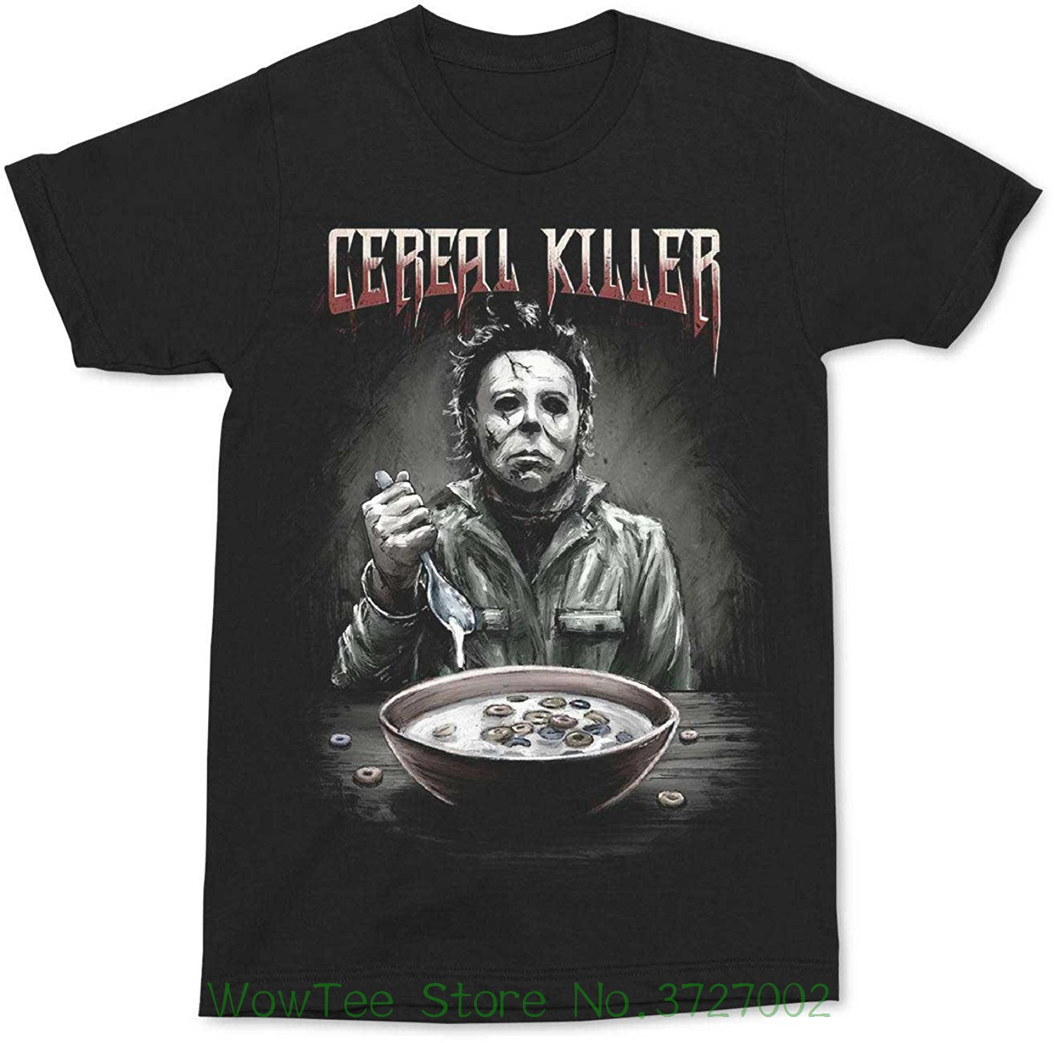 Changes Halloween Michael Myers Halloween Cereal Killer Black Shirt Mens Fashion Black Cotton