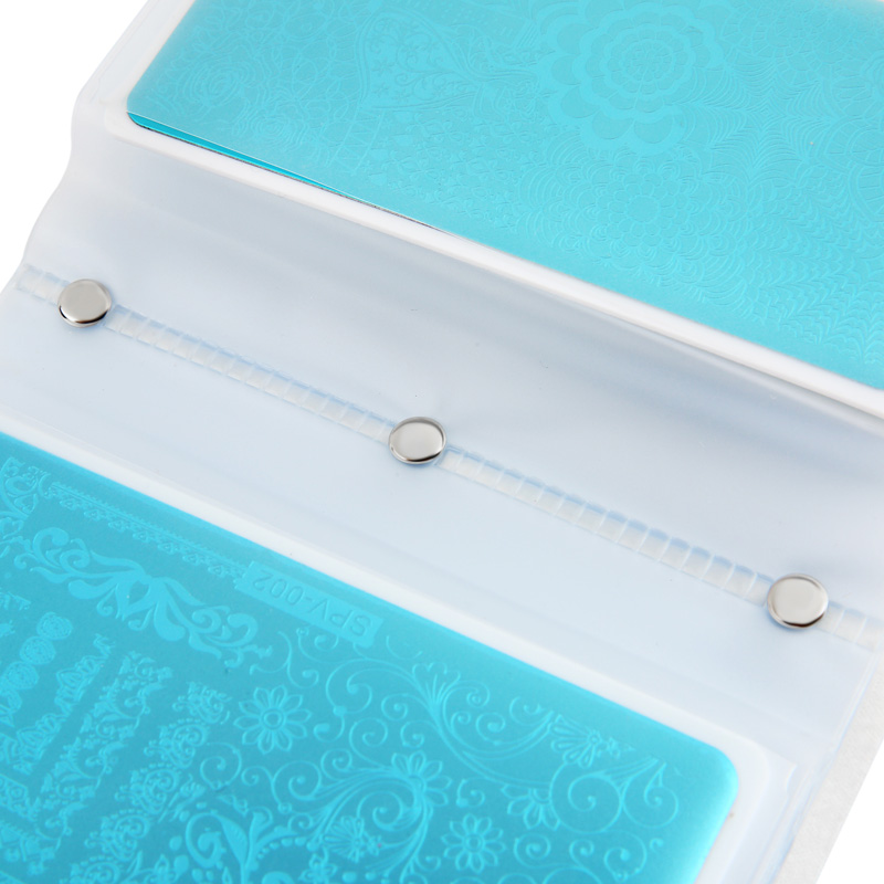 Image 5 - 20 Slots Empty Nail Art Stamping Plates Holder Laser Silver Case 6.5*12.5 Plates Organizer Manicure Templates Bag New Design Hot-in Nail Art Templates from Beauty & Health