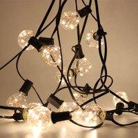 8 8M G40 Globe String Lights 29FT 25 Clear Vintage Bulb Decorative Outdoor Backyard Garden Garland