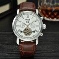 Mce marca Men watch relógio ocidental branco Tourbillon Data Vintage Relógio Mecânico Frete Grátis Relogio masculino 205